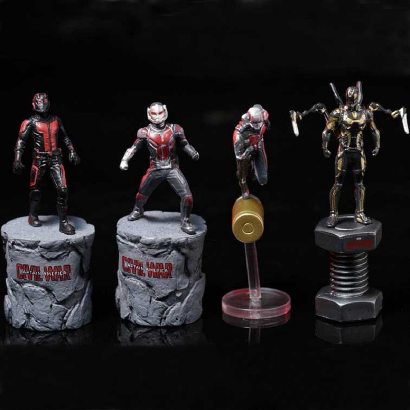 4 Style 6.5cm Ant-Man &Hornets Warrior PVC Action Figure Model Toy Anime Ant-Man Display Collection Brinquedos Children Juguetes anime one piece dracula mihawk model garage kit pvc action figure classic collection toy doll