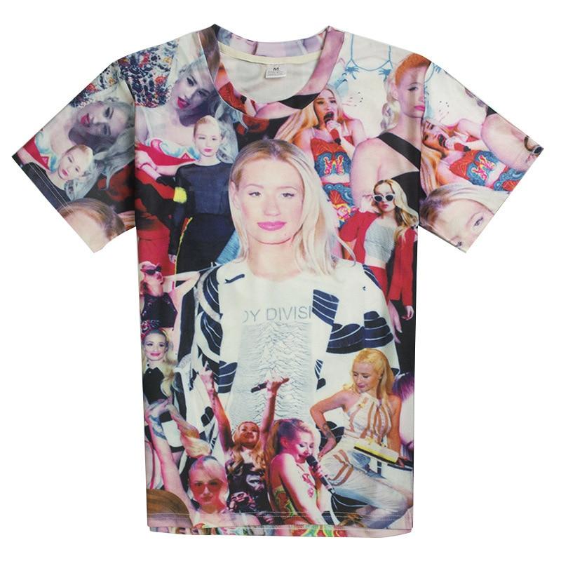 dcbdd844ba8 2017 Новые случайные тонкие Игги Азалия рубашка О-Образным Вырезом футболка  3d печати женщины мужчины мультфильм мальчики девушки мужчины пул.