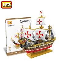 LOZ Santa Maria Sailing Ship 3D Model Toy 2660PCS Columbus Fleet Sailing Ship Block Toy for Children Ages 14+ 9048