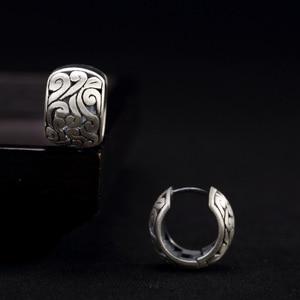 Image 3 - BALMORA אמיתי 990 טהור כסף חלול עננים אתני עגילים לנשים אמא מתנת בציר אלגנטי תכשיטים Brincos