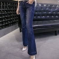 The Korean Version James Jeans Lady Creative Stretch Slim Pants Leg Small Wholesale On Behalf Of