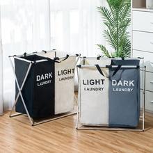 Kirli giysi saklama sepeti üç ızgara organizatör sepet katlanabilir büyük çamaşır sepeti su geçirmez ev çamaşır sepeti