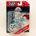 Lo nuevo Finger Flick Trix Bmx bicicleta AZUL y BLANCO Diecast Aleación De Níquel Stents Profesional Dedo de La Bicicleta de La Novedad Mini Juguetes