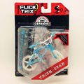 Newest Flick Trix Finger bike BLUE&WHITE Bmx Diecast Nickel Alloy Stents Professional Finger Bicycle Novelty Mini Toys