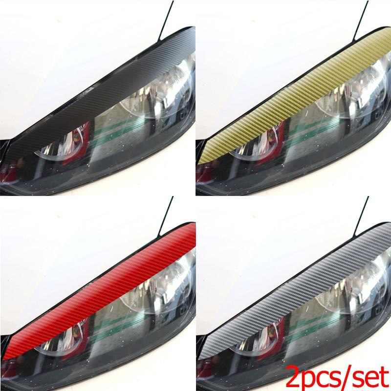 2 шт./компл. наклейка из углеродного волокна для Volkswagen VW GOLF 6 / GTI /R20 формируя светильник для бровей глаз линии