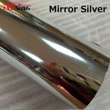50 cm * 1 m/2 m/3 m/4 m/5 m 높은 stretchable 거울 실버 크롬 미러 유연한 비닐 랩 시트 롤 필름 자동차 스티커 데 칼 시트