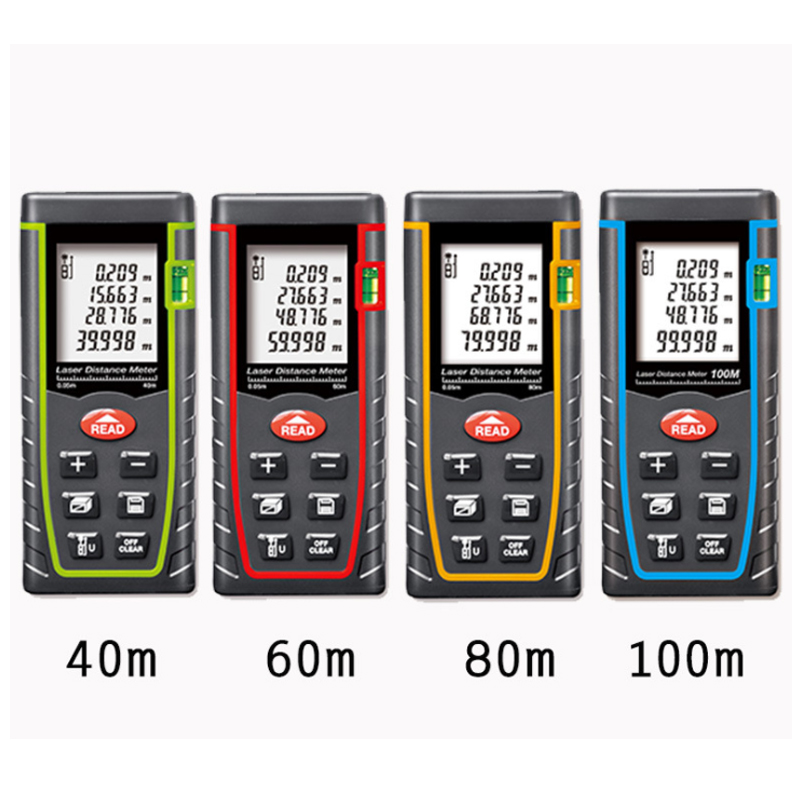 SNDWAY 40m 60m 80m 100m Handheld Laser Range Finder Infrared Measuring Instrument Laser Electronic Ruler Distance Meter