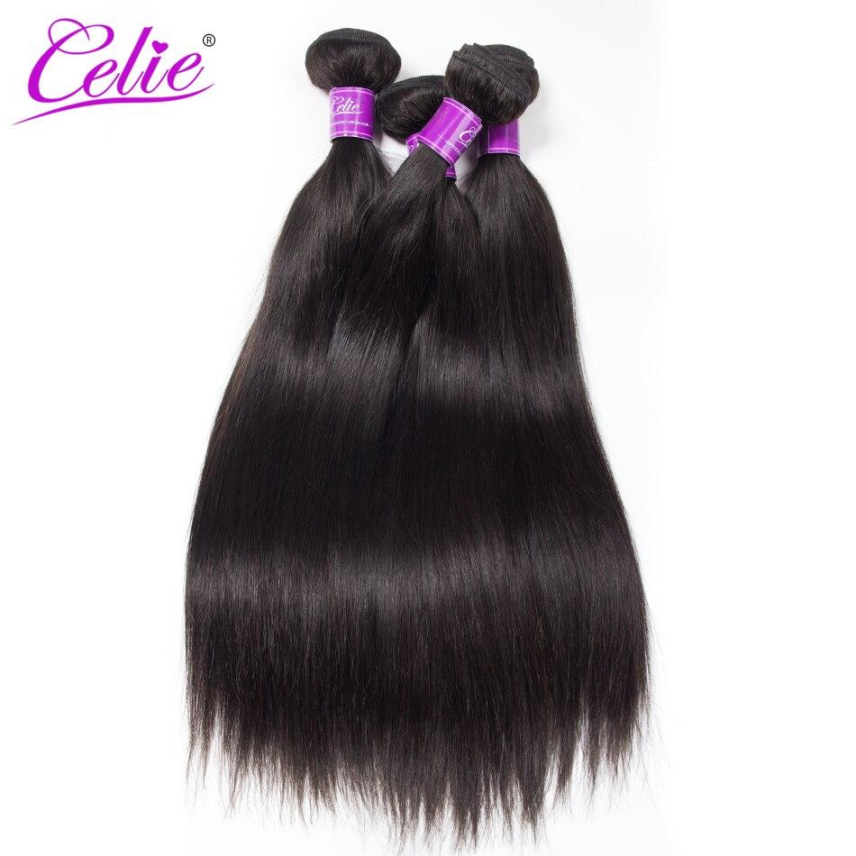 Image 5 - CELIE Hair Straight Hair Bundles 100% Remy Human Hair Extensions Bundles 28 30 32 34 36 38 40 inch Brazilian Hair Weave Bundles-in Hair Weaves from Hair Extensions & Wigs