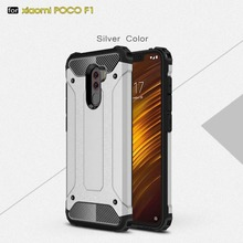 For Xiaomi Pocophone F1 Case Pocophone F1 Cover Armor Slim Hard Tough Cover Silicone Phone Case For Xiaomi Poco F1 Global Cover все цены