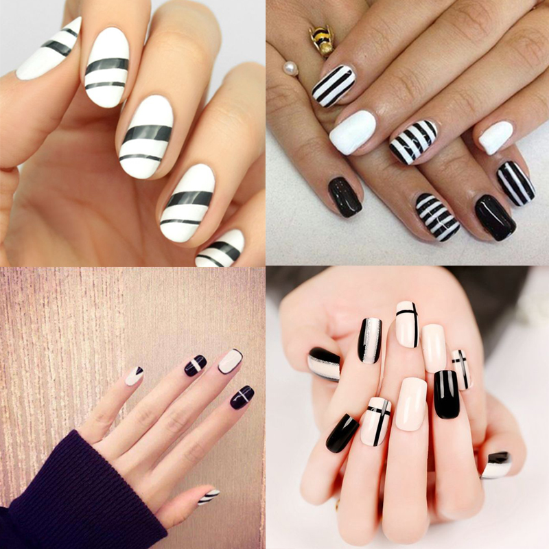 MSHARE 2pcs Black White French Manicure Set Gel Nail Polish 10ml Long Lasting Soak Off UV Varnish Kits In From Beauty Health