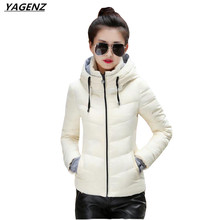 2017 Winter Cotton-padded Jacket Women Coat Parkas Thicken Hooded Short Outerwear Plus Size Women Basic Coat Casual Tops YAGENZ