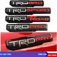 3D ABS TRD SPORT OFF ROAD BRO PRO Car Emblem Front Fender Auto Door 4Runner Logo Badge Emblema De Carro For Toyota Tacoma Tundra