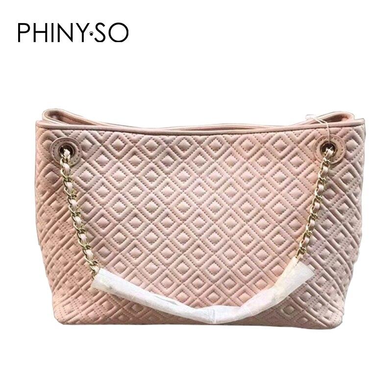 2018 Classico della Moda borsa delle donne Famous Brand Casual Tote sacchetto di spalla del cuoio Genuino borse di pelle di pecora Diamante Reticolo