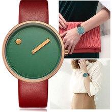 Творческий дизайн минималистский стиль женские часы Уникальный точка и линии простой леди обувь для девочек Подарки Спортивные кварцевые наручные часы PJ