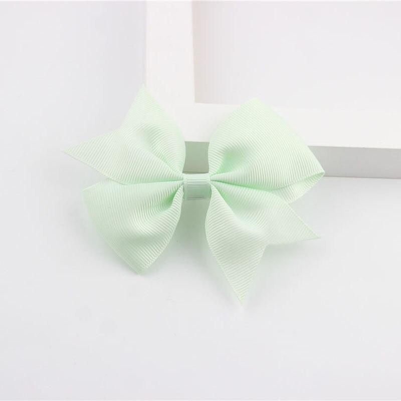 Новые модные маленькие заколки для волос для маленьких девочек, милые заколки для волос карамельного цвета с цветком, детские заколки, аксессуары для волос - Цвет: a12 Mint Green