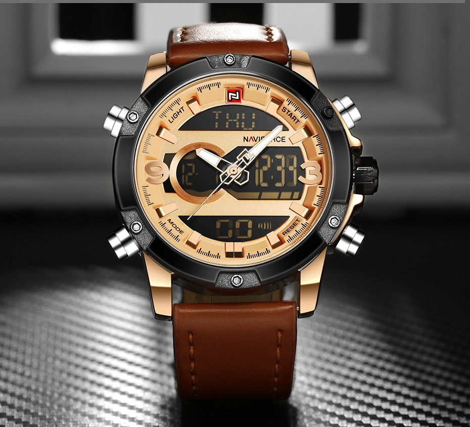 Top Luxury Brand NAVIFORCE Men Sport Watches Men's Quartz LED Analog Clock Man Military Waterproof Wrist Watch relogio masculino 7