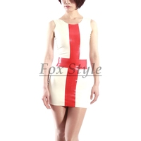 latex uniform dress rubber fetish nurse skirt latex dresses with cross