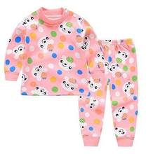 2018 Winter Fleece Suits Clothes Girls Set Outfits Children Toddler Boy Clothing Plus velvet thick Sets Kids Girl Clothes CWF568(China)
