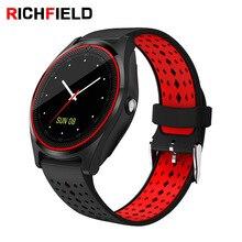 Купить с кэшбэком RICHFIELD V9 ladies Smart Watch Men Sport SIM Card camera Bluetooth Smartwatch Women for Android smart watches Q18 Y1 X6 A1 DZ09