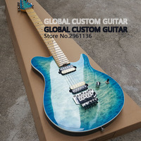 High Quality Floyd Rose Wolfgang Electric Guitar The Color Of The Body Is The Sea Wave