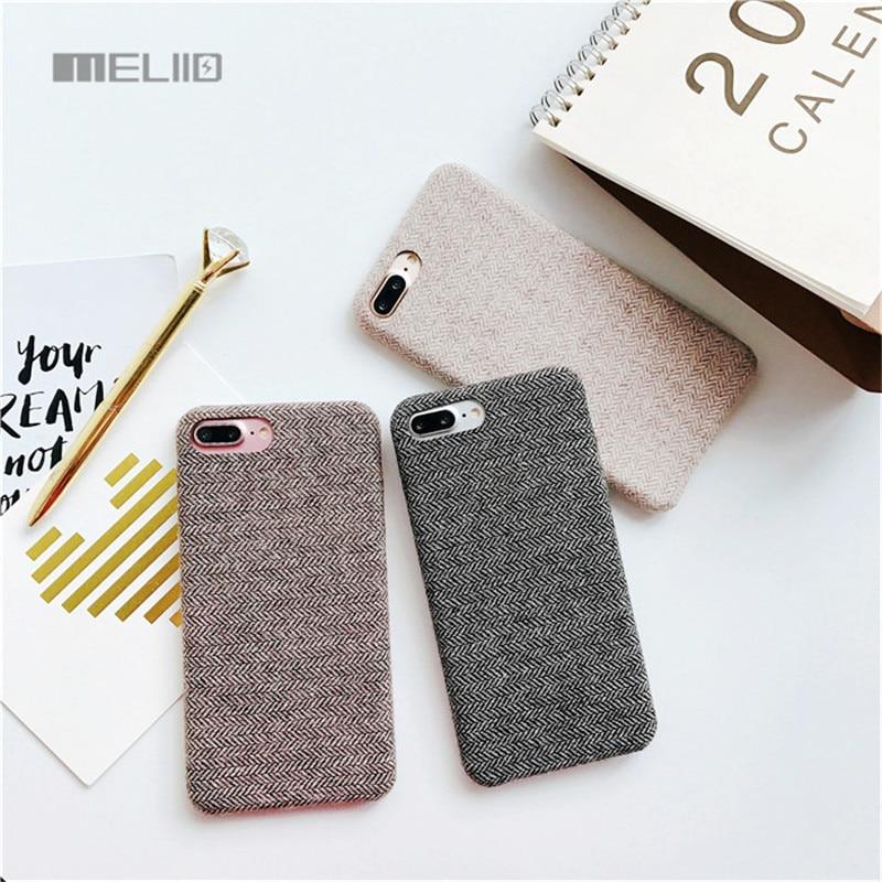 Fabric Case for Apple iPhone 7 7plus 6s 6plus 8 8plus Elegant Cloth Autumn Winter Soft Cover Back <font><b>Phone</b></font> <font><b>Bags</b></font>