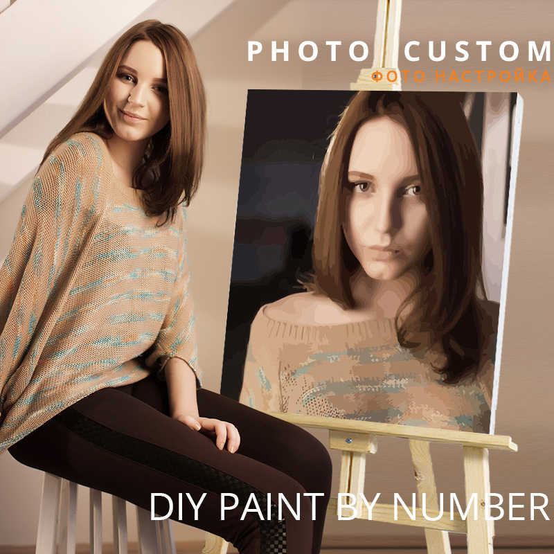 CHENISTORY Photo Custom Diy Painting By Numbers Personality Picture Customized Paint By Numbers Gift Acrylic Coloring By Numbers