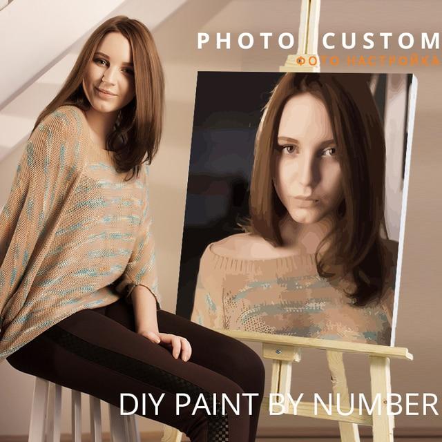 CHENISTORY фото на заказ Diy Краска ing по номерам персональная картина индивидуальная краска по номерам подарок акриловая Раскраска по номерам