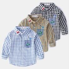 Ajlong/Новое поступление; Детские рубашки; повседневные клетчатые