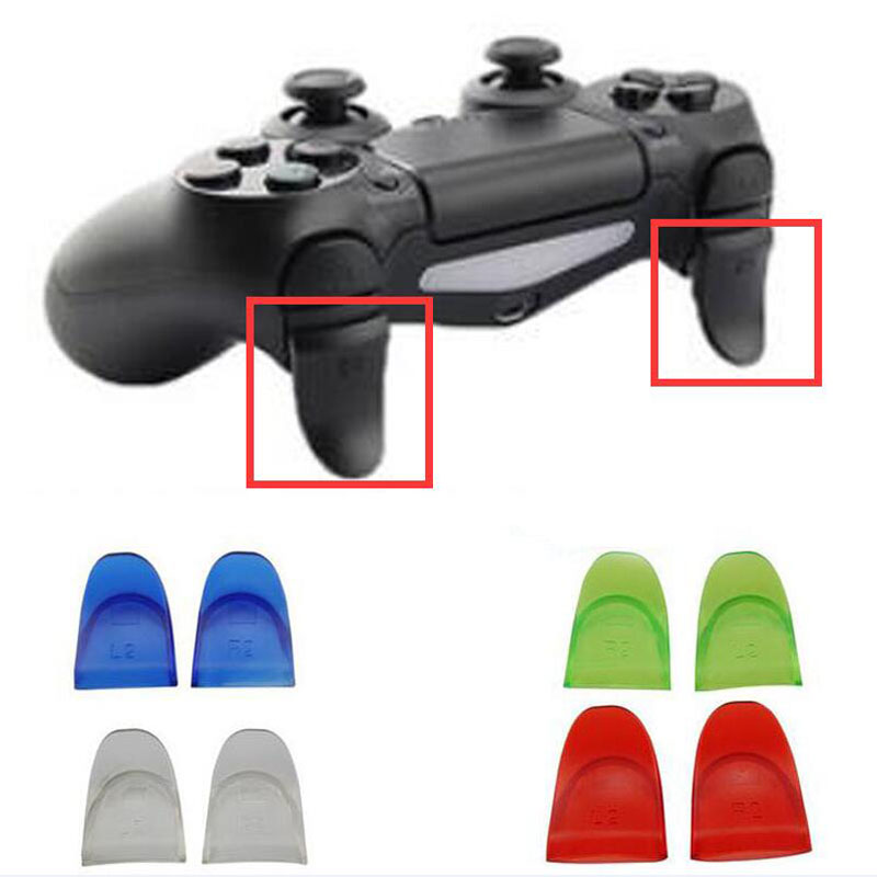 R2 L2 Dual Trigger Extender Attachment Extra Longer Button Part for Sony Playstation Dualshock 4 PS4 Pro Slim Controller Gamepad
