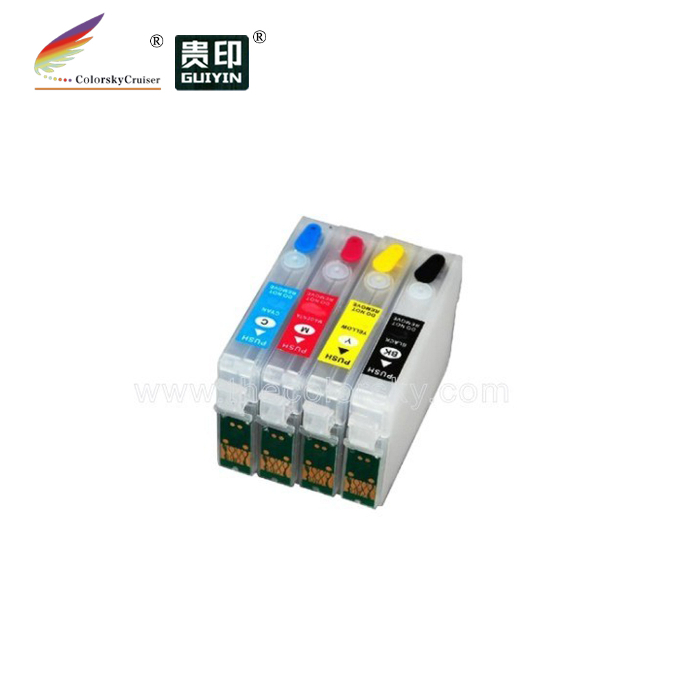 (RCE1281) Refillable Refill Ink Cartridge For Epson T1281 T1282 T1283 T1284 Stylus SX 125 130 230 (with ARC Chip)