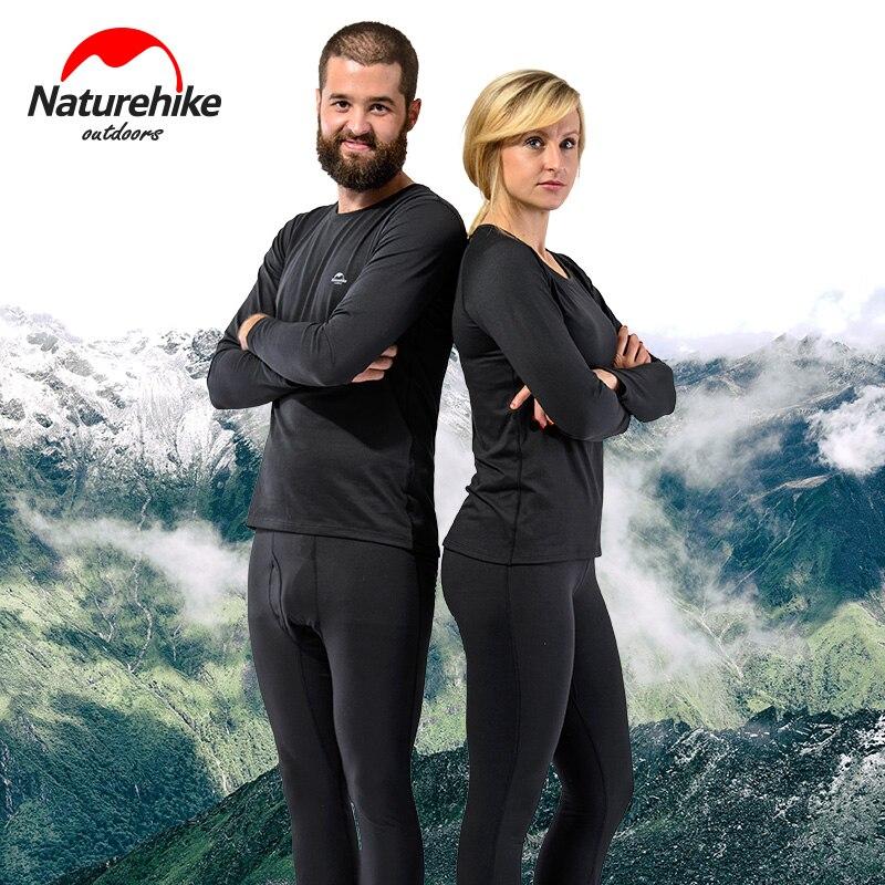 Naturehike Спорт на открытом воздухе термальность нижнее бельё Для Девочек Унисекс Осень Зима Велоспорт лыжный быстросохнущая пот