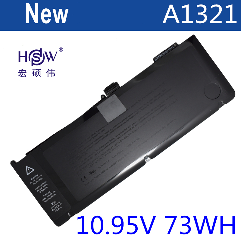 HSW Brand New replacement Laptop Battery A1321 For Apple for Macbook Pro 15 A1286 2009 2010 Version bateria akku laptop battery for msi a32 a24 for hasee k500a batterie k480a k480p cx480 notebook batteries md98042 laptop battery bateria akku