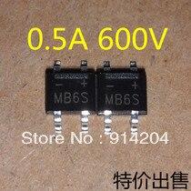 200 шт. SMD MB6S 0.5A 600 В Однофазных Мост Выпрямителя Тока Диода SOP-4