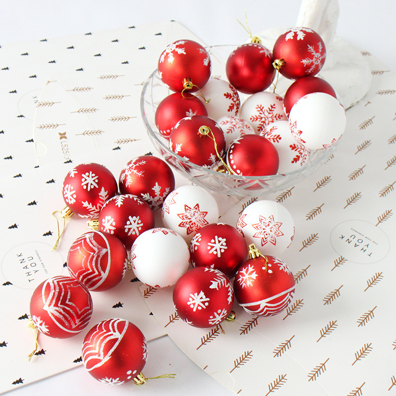 Red Christmas Ball Ornaments.Us 11 82 30 Off 24pcs 6cm Rose Gold Red Christmas Tree Ball Baubles Party Wedding Hanging Ornament Christmas Decoration Supplies For Home Decor In