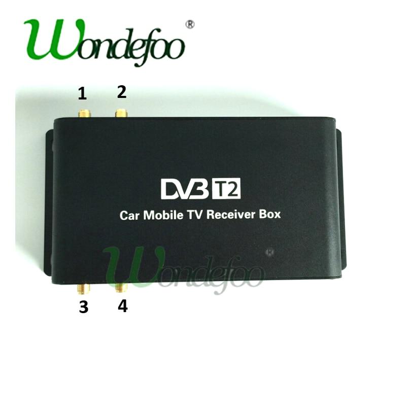 Car 4 Antenna DVB T2 180 200km h 4 Mobility Chip DVB T2 Car Digital TV