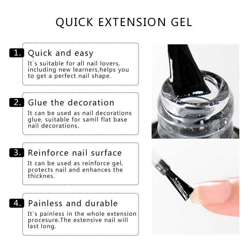 Voldoen Acrosss 7 Ml Acryl Quick Extension Gel Polish Clear Pink Nail Tips Uv Builder Nail Gel Nail Art Gel