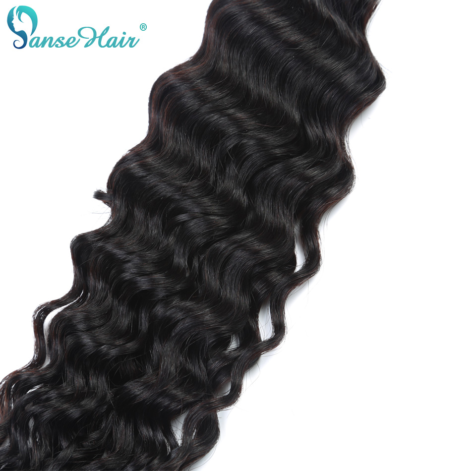 Panse Hair Deep Wave 4 Πακέτα ανά παρτίδα - Ανθρώπινα μαλλιά (για μαύρο) - Φωτογραφία 5