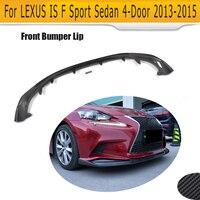 Углеродного волокна переднего бампера для губ подбородка грязезащитный спойлер для Lexus IS250 IS350 F Sport ISF Седан 4 двери 2013 2014 2015