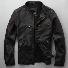 NOBLE DUKE 2018 Men Genuine Leather Motorcycle Thick Cowhide Riding Jackets Male