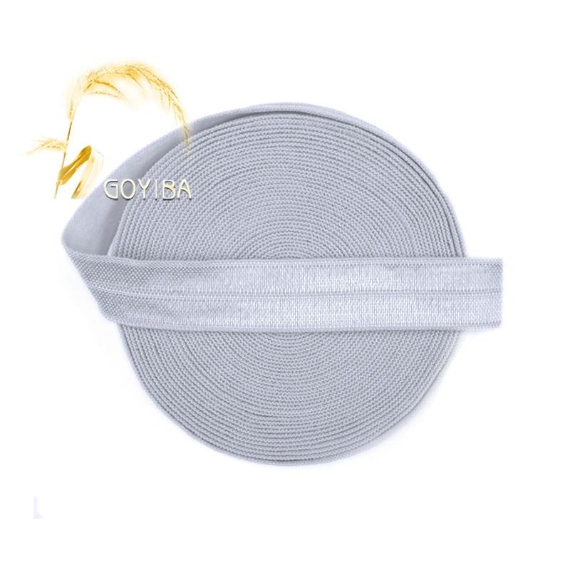 GOYIBA 5 Yard 5/8 1.5cm Pecan Brown Solid FOE Foldover
