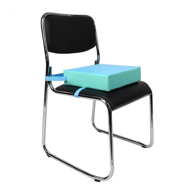 1Pc Chair Seat Cushion Kids Increased Chair Pad Dining Chair Cushion Removable Kid Children Highchair Seat Pad With Buckle Strap