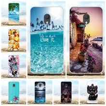 For Alcatel 1C 2019 Case Ultra-thin Soft TPU Silicone Cover Beach Patterned Bumper Coque