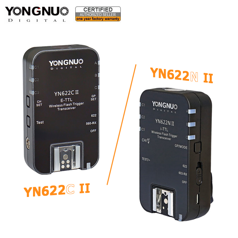YONGNUO YN622C II YN-622N II 2.4GHz Flash Transceiver Speedlite Trigger for Canon Nikon w/ HSS TTL Multiple SYNC Mode Function аксессуар yongnuo yn 622n ii для nikon радиосинхронизатор