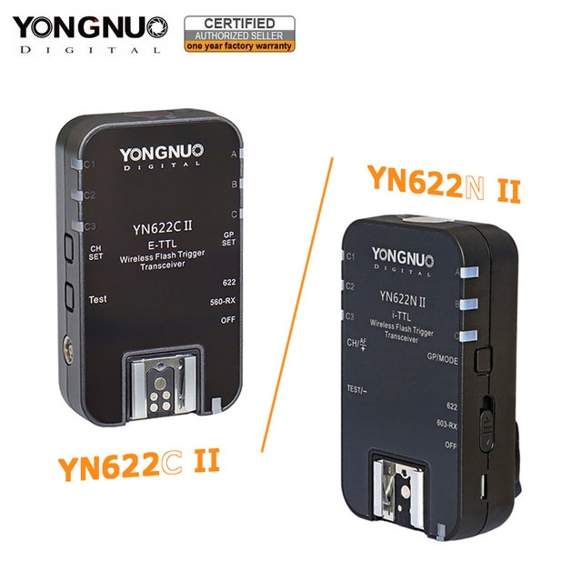 YONGNUO YN622C השני YN 622N השני 2.4GHz פלאש משדר Speedlite טריגר עבור Canon ניקון w/ HSS TTL מרובה סנכרון מצב פונקציה