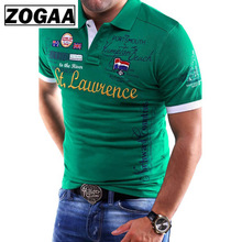 ZOGAA Brand New Mens Polo Shirt Slim Fit Short Sleeve Polos Fashion Printed Cotton Casual Male Shirts Men Clothing