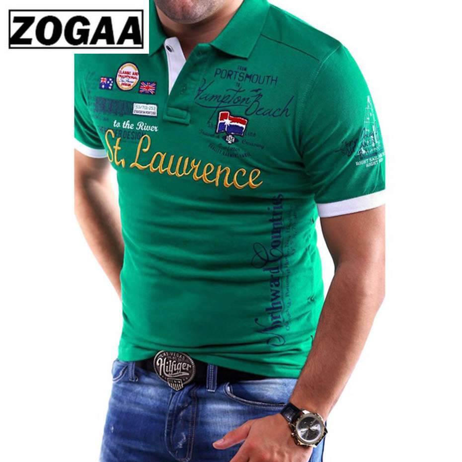 ZOGAA Brand New Mens   Polo   Shirt Slim Fit Short Sleeve Shirt   Polos   Fashion Printed Cotton Casual Male   Polo   Shirts Men Clothing