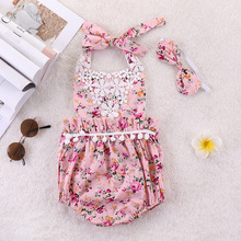 lol floral sleeveless dress bow-knot cute princess clothes dresses lace wedding Camisole summer for girls baby kids party set