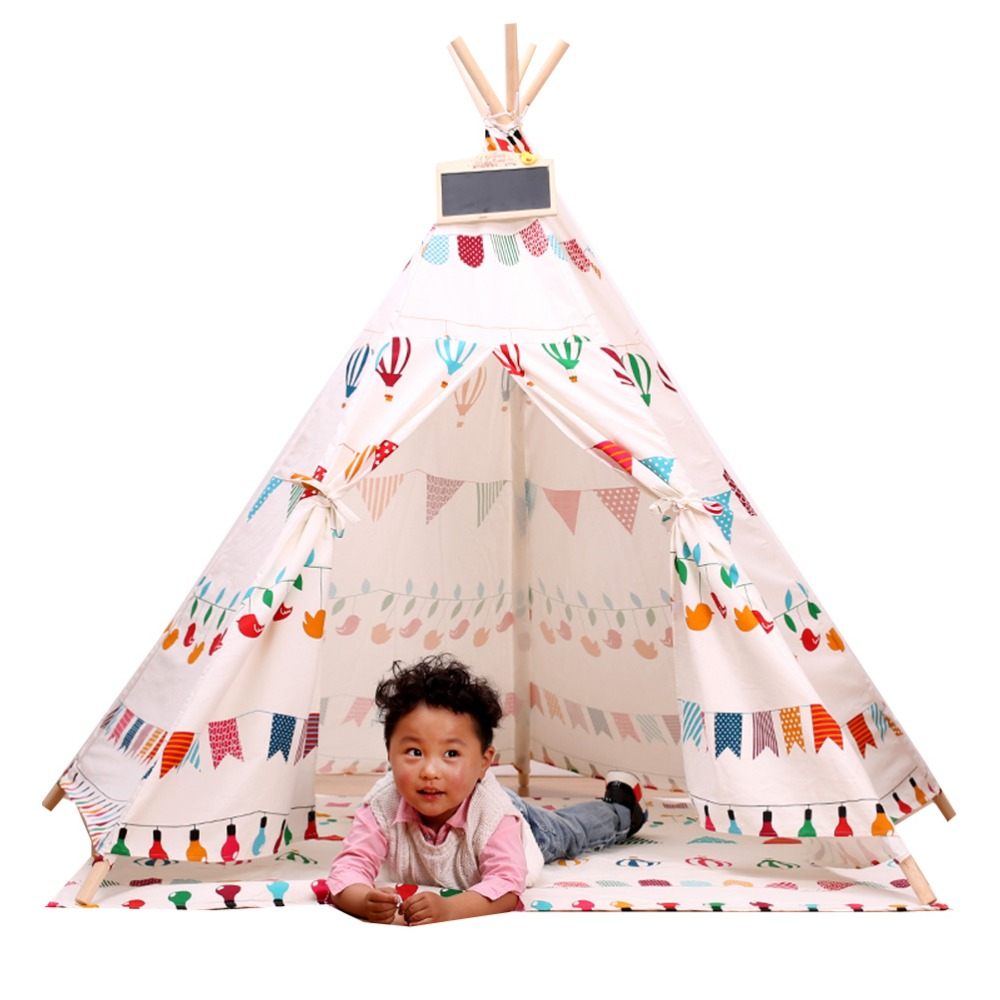 Free Love @Small flower design kids play tent indian teepee children playhouse children play room teepee-in Toy Tents from Toys u0026 Hobbies on Aliexpress.com ...  sc 1 st  AliExpress.com & Free Love @Small flower design kids play tent indian teepee ...