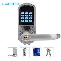 LACHCO Electronic Door Lock Password, 2 Cards, 2 Keys Smart Digital Keypad Lock Keyless Intelligent Entry Satin Nickel L16071BS