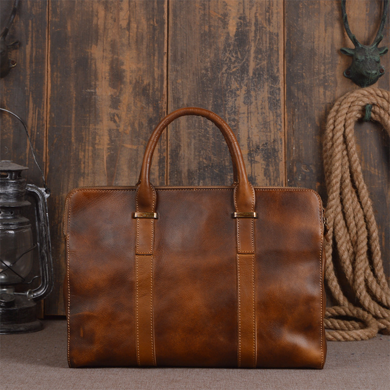 New 2018 Fashion Men handbag cow Leather Mens shoulder Bag Crazy Horse Business Men's messenger Laptop bag casual men Briefcase 100% genuine leather men bag brand designed men laptop briefcase business bag cow leather men handbag shoulder bag messenger bag